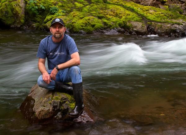 Michael Wilhelm at Salmonberry River